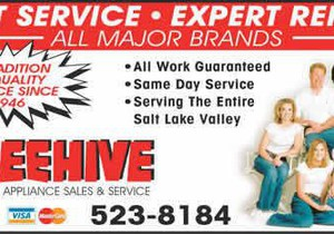 Beehive Appliance Appliance Service Salt Lake City Ut